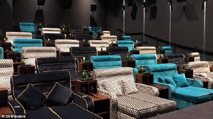 The only cinema in the world were you can watch movies lying down