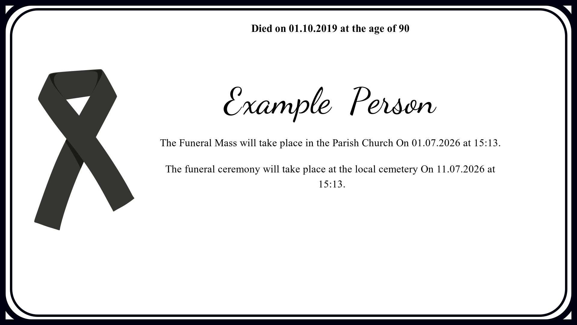 Example  Person